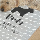 personalised dog towel gift for dog owners and lovers to clean pets
