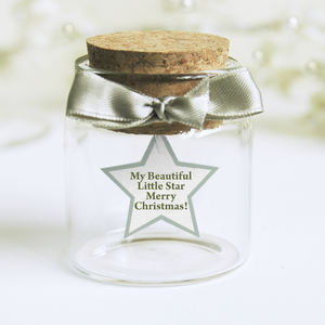 Personalised Star Christmas Message Bottle