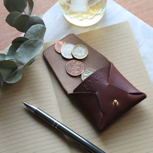 Leather Coin Pouch - luxury leather accessories