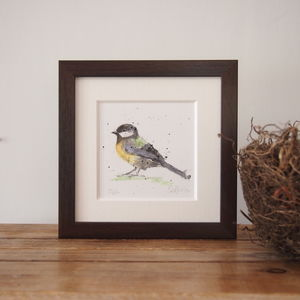 Limited Edition, Garden Bird Print, Great Tit