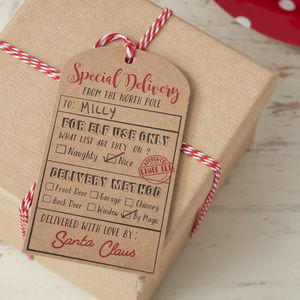 Santa Kraft Special Delivery Gift Tags - finishing touches