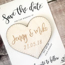 Wooden Heart Save the Date