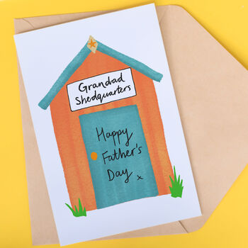 grandad fathers day card shed