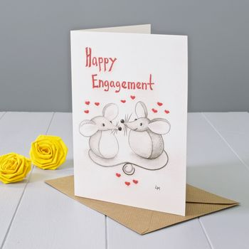 Happy Engagement Mouse Greeting Card