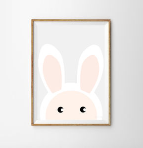 Rabbit Children's Print - children's room