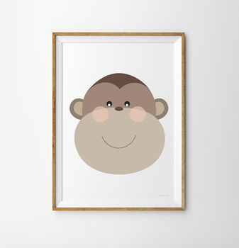 Monkey Children's Nursery Print