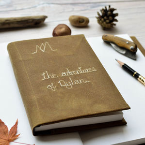 Personalised Adventure Wax Cotton Journal