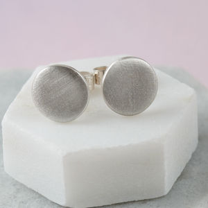 Matt Finish Circular Studs - earrings