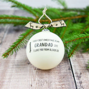 First Christmas As My Nanny Or Grandad Bauble