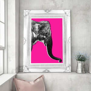 Queeny The Elephant, Canvas Art - posters & prints