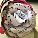 'Love You' Paper Wrapped Rose
