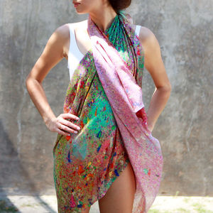 Ladies Scarf And Sarong Modal Print, Glitter - tops & t-shirts