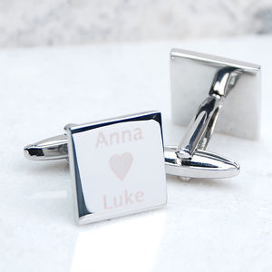 Personalised 'I Love …' Cufflinks - men's accessories