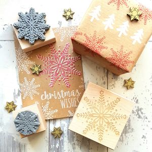 Christmas Scandi Snowflake Rubber Stamp - cards & wrap