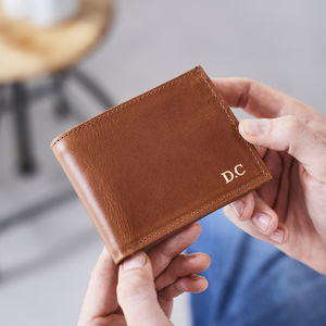 Leather Wallet With Coin Section - wallets & money clips