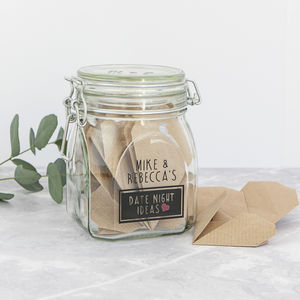 Personalised Date Night Wish Jar - jars