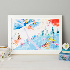 Personalised Fairy Bedroom Print - pictures & prints for children