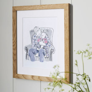 Watercolour Line People Portrait - best father's day gifts