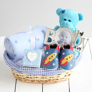 Deluxe Boy New Baby Gift Basket - baby shower gifts & ideas