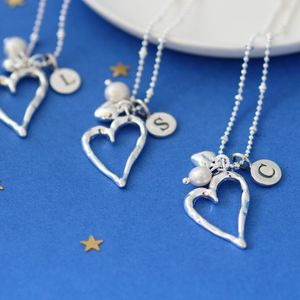 Personalised Open Silver Heart Necklace - what's new