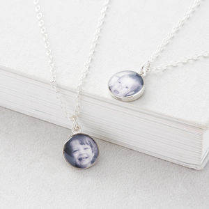 Personalised Silver Photo Necklace