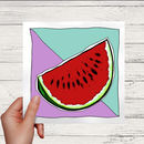 Watermelon Greetings Card