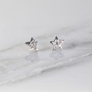 Celestial Diamond Star Stud Earrings - celestial jewellery