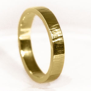 3mm Flat Profile 18ct Gold 'Coul' Wedding Ring - new in fine jewellery
