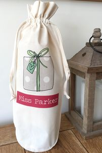 Personalised Bottle Bag - wrapping