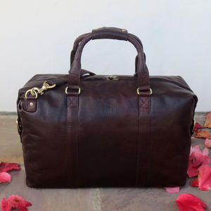 Leather Holdall Travel Bag Gym Bag 25% Off - bags