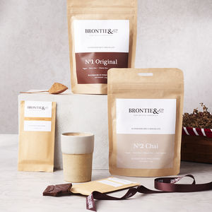 Luxury Gift Hamper Of Vegan Chocolate And Hot Chocolate