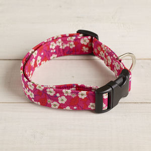 Sasha Liberty Fabric Dog Collar - dog collars
