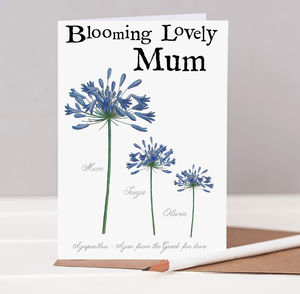Blooming Mum Mother's Day Card - new in