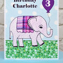 Children's elephant birthday card, large A5 size, by Jenny Arnott Cards and Gifts