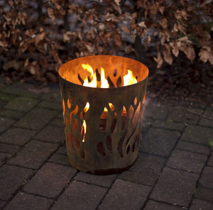 Burnished Brazier Fire Pit - cosy outdoor inspiration