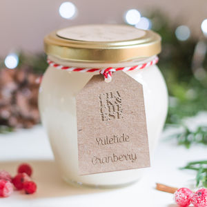 Handmade Winter Cranberry 50 Hour Soy Jar Candle