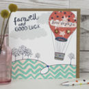 Farewell And Good Luck Card