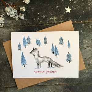 Arctic Fox Christmas Cards, Single Or Packs - cards