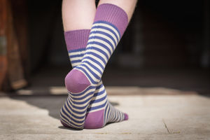 Two Tone Stripe Sock