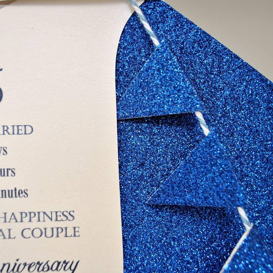 627da6370 45th sapphire wedding anniversary paper sail boat card by the little ...