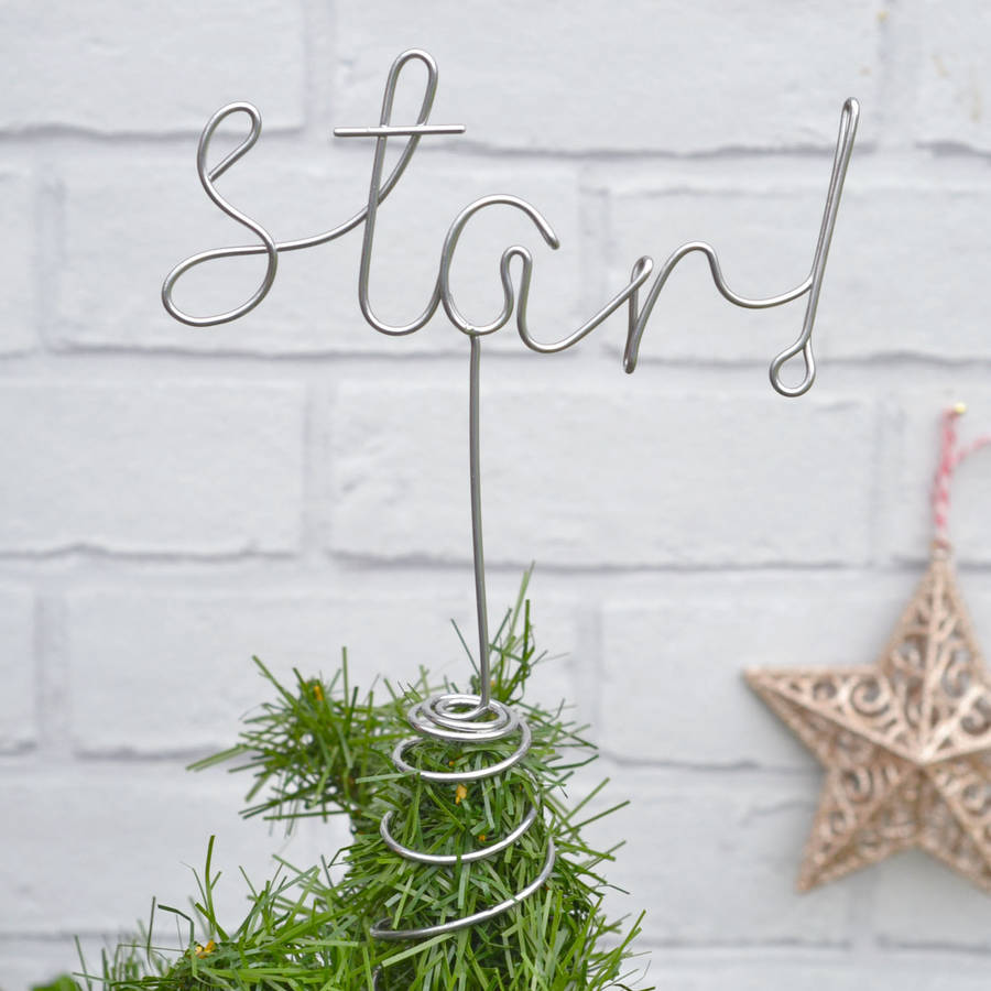 Letter Christmas Tree Topper: Christmas Tree Word Star! Topper By The Letter Loft