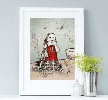 Mummy's Little Helper Fine Art Print