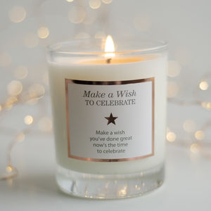'Make A Wish To Celebrate' Graduation Candle - christmas home accessories
