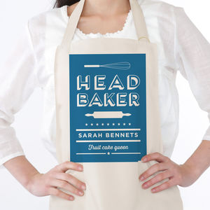 Head Baker Personalised Apron - gifts for her sale