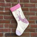 Girls Reindeer Christmas Stocking