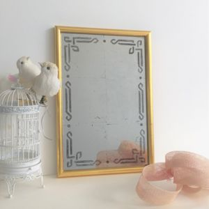Handmade Mirror In Vintage Gold Frame