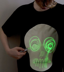 Skull Glow In The Dark Interactive T Shirt/ Sweatshirt