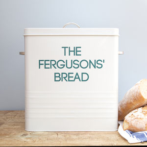 Personalised Enamel Bread Bin - kitchen