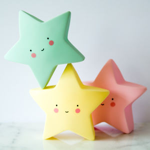 Star LED Night Light - children's room