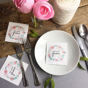 Let Love Grow Bee Friendly Flower Seed Favour Packet